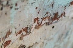 Macro photographie de plâtre de épluchage posé avec des restes de image stock