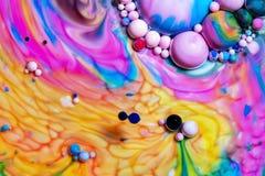 Macro photographie des bulles color?es LXXVI photographie stock libre de droits