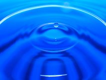 Macro photography of a blue water drop / ink drops splash and ripples, wet, conceptual for environmental, conservation, droug. Ht, artistic, for website banners stock photography