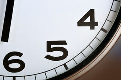 Macro photography of classic kitchen clock stock image