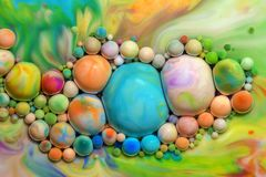 Macro photography of colorful bubbles LXIII royalty free stock image