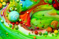 Macro photography of colorful bubbles LXVII royalty free stock image