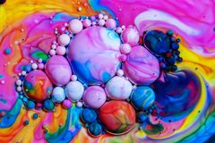Macro photography of colorful bubbles LXX royalty free stock photo