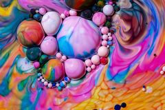 Macro photography of colorful bubbles LXXV stock photography