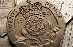 Macro photography pound sterlin coin Stock Photo