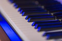 Macro piano keys Royalty Free Stock Image