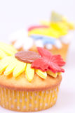 Macro picture of cupcake Royalty Free Stock Photography