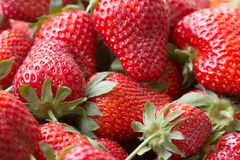 Macro picture of a Juicy ripe Strawberry Stock Photo