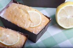 Macro picture of lemon cake. Stock Image
