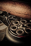 Macro picture of old typewriters Stock Photos