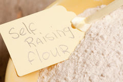 Macro picture of self raising flour Royalty Free Stock Photos