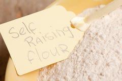 Macro picture of self raising flour Royalty Free Stock Photos