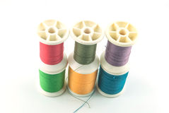 Macro picture of yarn bobbins Stock Image