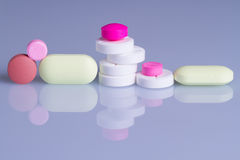 Macro of  pills Royalty Free Stock Photography