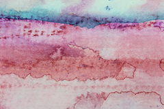Macro Pink and Blue Watercolor 3 Royalty Free Stock Photography