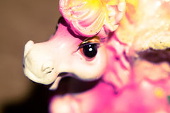 Macro of Pink Pony Toy Royalty Free Stock Photo