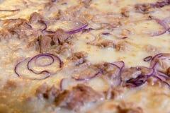 Macro pizza Immagini Stock