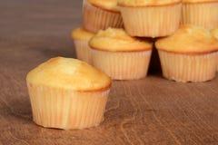 Macro plain cupcake Stock Photo