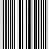 Macro plan rapproché de grand fond de code barres d'isolement Photographie stock