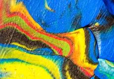 Macro plan rapproché de pâte à modeler multicolore Photos libres de droits