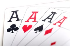 Macro of playing cards Royalty Free Stock Image