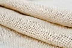 Macro plié de textile de jute photos stock