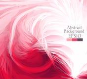 Macro plumes rose, blanc Illustration Stock