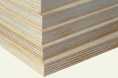Macro plywood boards stacked Stock Photos