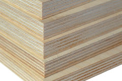 Macro plywood boards stacked Royalty Free Stock Image