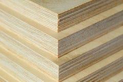 Macro plywood boards stacked Stock Photo