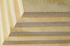 Macro plywood boards stacked Royalty Free Stock Photography
