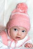 Macro portrait of beautiful baby Stock Image