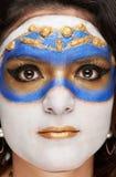 Macro portrait of woman Stock Photography