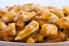 Macro poutine Royalty Free Stock Photography