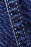 Macro primo piano dei jeans del denim fotografia stock