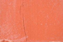 Macro primo piano del mattone rosso, struttura di lerciume Fotografie Stock