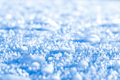 Macro primo piano di ghiaccio e di neve Fotografia Stock Libera da Diritti