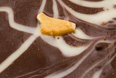 Macro primo piano di un cioccolato Fotografie Stock