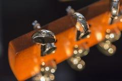 Macro principal da guitarra fotografia de stock royalty free
