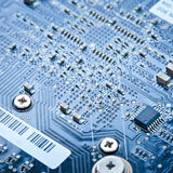 Macro printed circuit board Royalty Free Stock Photo