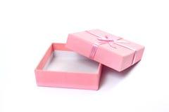 Macro projectile de cadre de cadeau sur le blanc Photographie stock