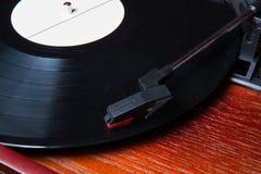 Macro projectile de joueur de vinyle Image libre de droits