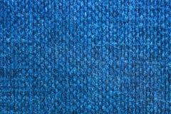 Macro projectile de texture de cache de livre bleu Image libre de droits