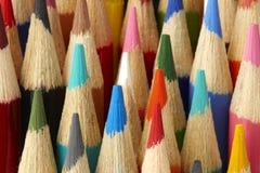 Macro projectile des crayons de couleur Photographie stock libre de droits