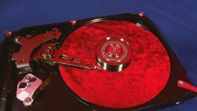 Macro punto di vista dei movimenti capi del disco rigido archivi video
