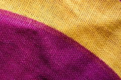 Twocolored closeup cotton cloth pattern Stock Image