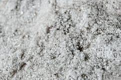 Macro quartz Crystal Black et blanc 2 Image stock