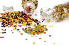 Macro of rainbow sprinkles Stock Photo