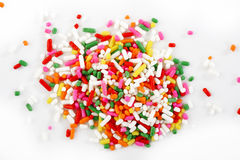 Macro of rainbow sprinkles Royalty Free Stock Photo