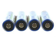 Macro of rechargeable NIMH batteries Stock Image